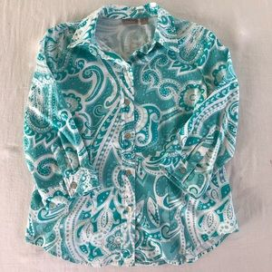 Chico's blouse .. size 1... 0068